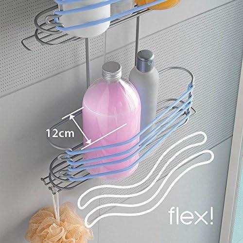 Metaltex Next - Jabonera con Elástico para Mampara, Azul: Amazon.es: Hogar