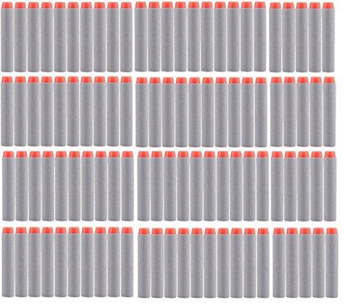 Gray Darts - BOROLA 200pcs 7.2cm Refill Bullet Darts for Nerf N-strike Elite Series Blasters Kid Toy Gun - Gray