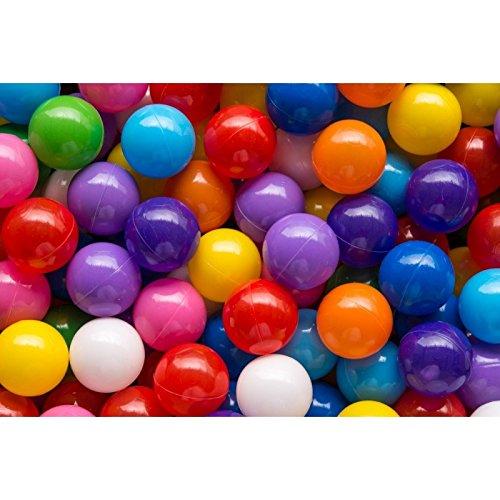 1000 bunte Bälle in 10 Farben TÜV geprüft