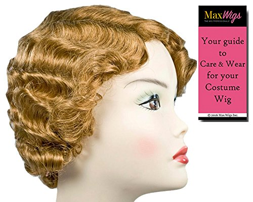 New Gatsby Color Auburn - Lacey Wigs Short Flapper 1920s Marcel Mae West Finger Wave Chicago Bundle With MaxWigs Costume Wig Care -