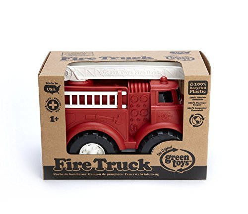 Green Toys Fire Truck Vehicle Playsets Toy fot Kids, Red