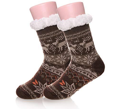 Kids Boys Girls Fuzzy Slipper Socks Soft Warm
