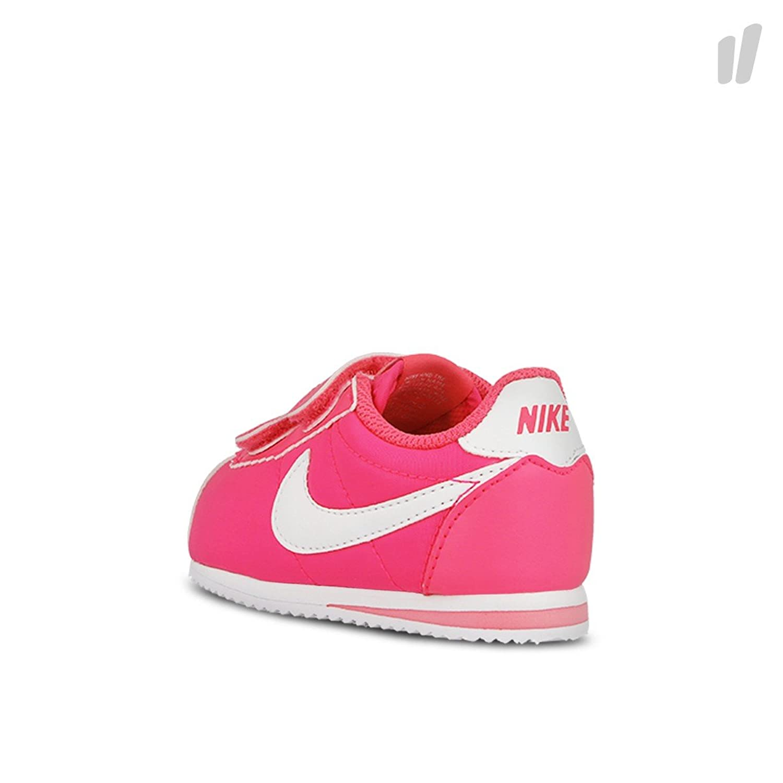 Nike Cortez Nylon (TDV), Chaussures de Football Bébé Garçon, Multicolore-Rosa/Blanco (Hyper Pink/White), 26 EU