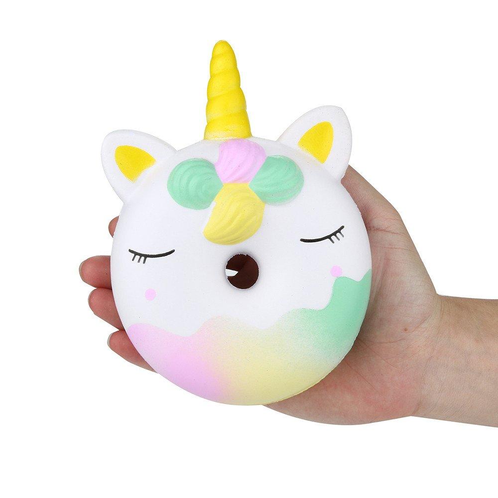 Mecohe 16cm Jumbo Unicorno Ciambella Morbido Profumato Lento Aumento Spremi il Giocattolo, Giocattoli di Decompressione Slow Rising Toy Funny Regalo