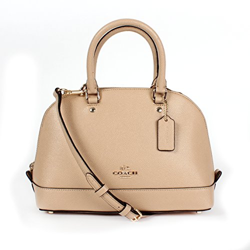Coach Mini Sierra Satchel In Crossgrain Leather F37217  Beechwood
