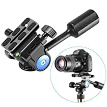 Neewer Heavy Duty Camera Tripod Handle Ball Head with 1/4 inch Quick Shoe Plate,Three-Dimensional 360 Degree Rotation for Tripod,Monopod,Slider,DSLR Camera,Camcorder,Load up to 22 Pounds/10 Kilograms