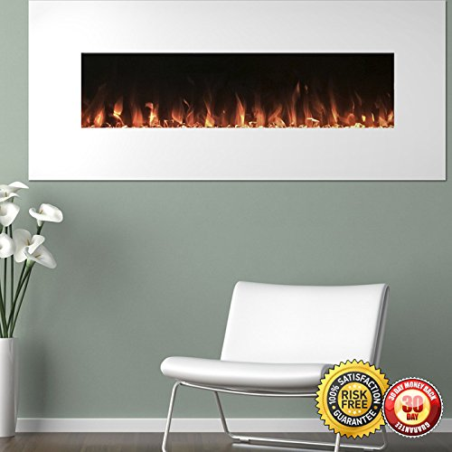 Cheap New White Electric Fireplace with Color Changing Effects Remote 50 x 21 I Black Friday & Cyber Monday 2019