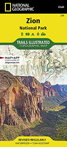 Zion National Park (National Geographic Trails Illustrated Map) (Topo Maps Utah)