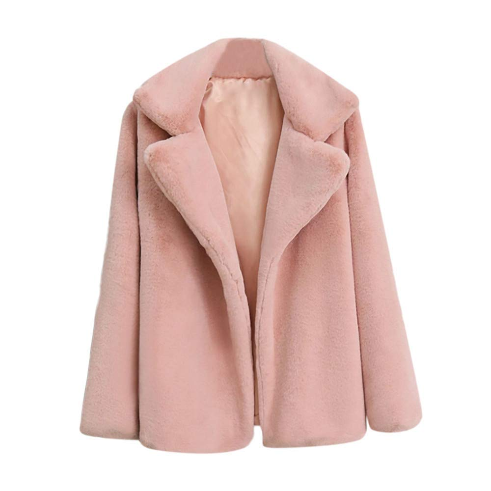 pink Ladies Coat Women Fashion Cover Blouse Coat Pink Brown bluee Red Casual Solid color Keep Warm Wild Tight for Women