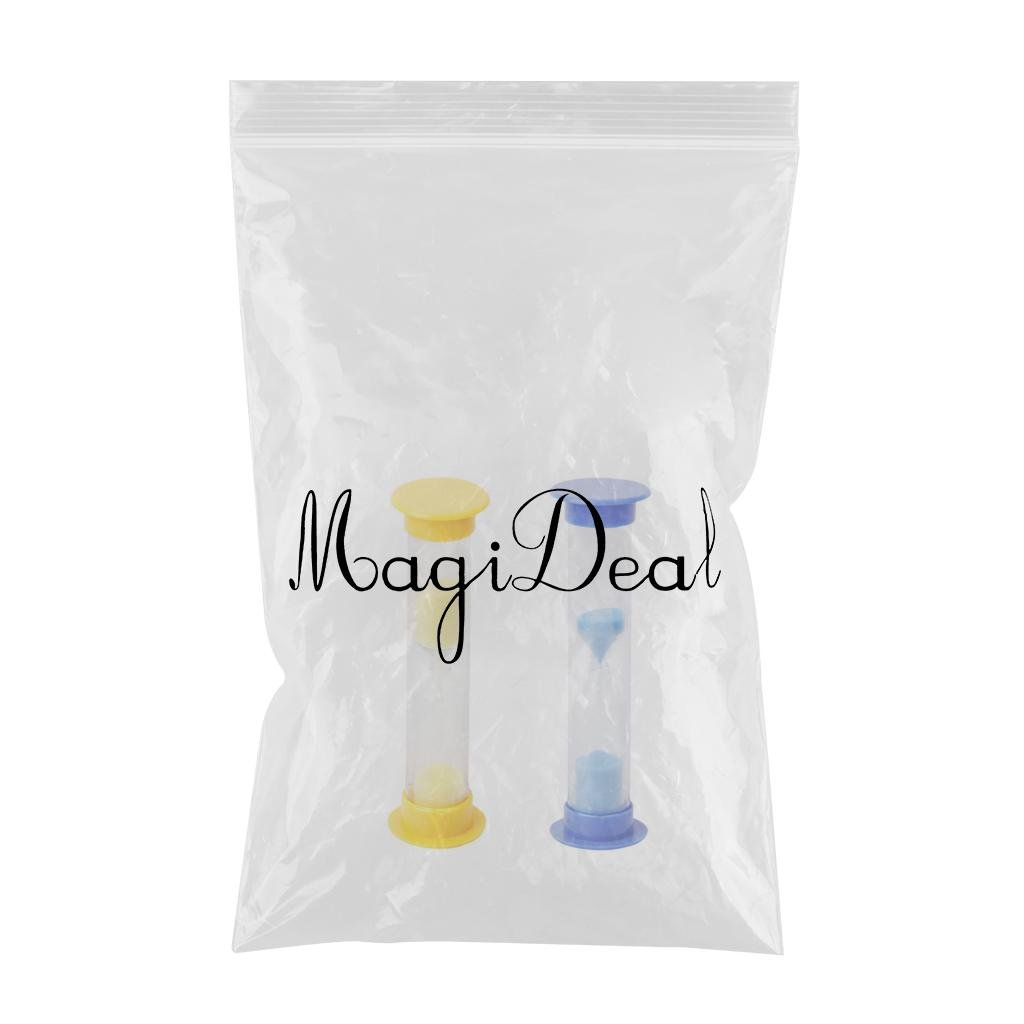 magideal 2 piece mini hourglass 1 minute sand timer clock yellow
