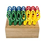 Offex 24-Piece Classroom Scissor Set with Rack - Point, 6 Pack