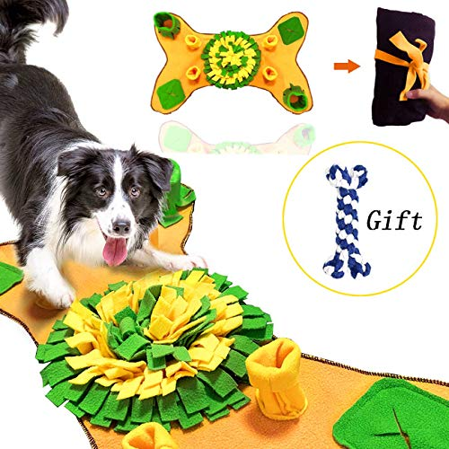 GABraden Snuffle Mat for Small Large Dogs Nosework Feeding Mat Easy to Fill and Machine Washable Training Mats Pet…