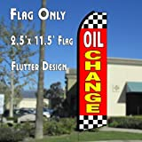 OIL CHANGE (Red/Checkered) Flutter Polyknit Feather Flag (11.5 x 2.5 feet) Review