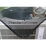 PremierAcCovers - Leaf Guard Summer/All Season - Open Mesh Air Conditioner Cover - Keeps Out Leaves, Cottonwood and Debris - 37x34 -Black