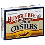 Expect More Bumble Bee Hot and Spicy Smoked Oysters 3.75 oz pack of 6