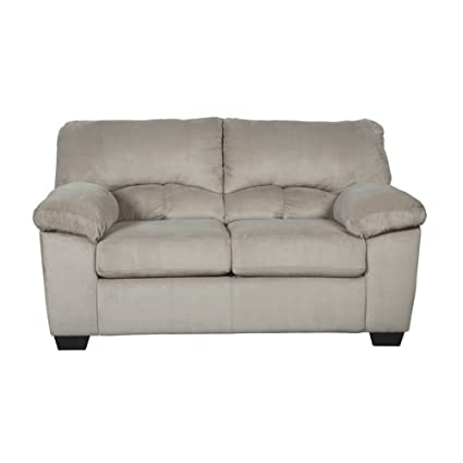 Ashley Furniture Signature Design - Dailey Contemporary Loveseat - Alloy Beige