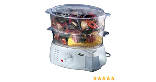 amazon com oster double tiered food steamer 5713 kitchen dining rh amazon com Oster Rice Cooker Instruction Manual Oster 5711 Food Steamer Manual