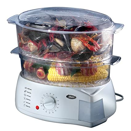 amazon com oster double tiered food steamer 5713 kitchen dining rh amazon com Oster 5711 Food Steamer Manual Oster Rice Cooker Instruction Manual