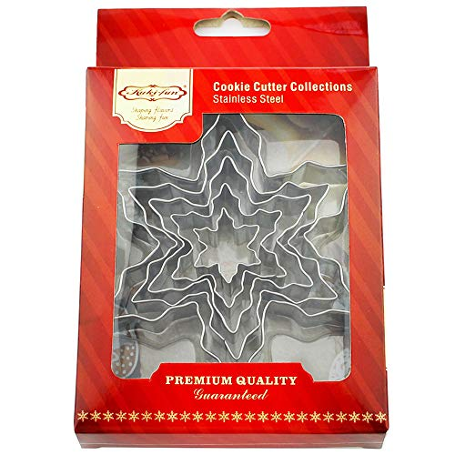 Kanntie Snowflake Cookie Cutter Set - 5 Piece Assorted Szie– Premium Stainless Steel ()