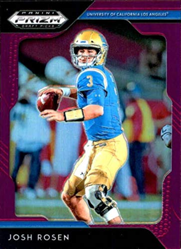 (2019 Panini Prizm Draft Picks Prizms Purple #52 Josh Rosen UCLA Bruins NCAA College Football Trading Card)