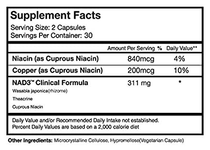 N (R) Niagen Nicotinamide Riboside - 60 capsules by High Performance Nutrition: Amazon.es: Salud y cuidado personal