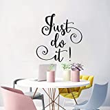 Home Decor Inspiration Wall Stickers Quotes Just Do It Removable Room Decor Wall Decals for Living Room Bedroom Nursery