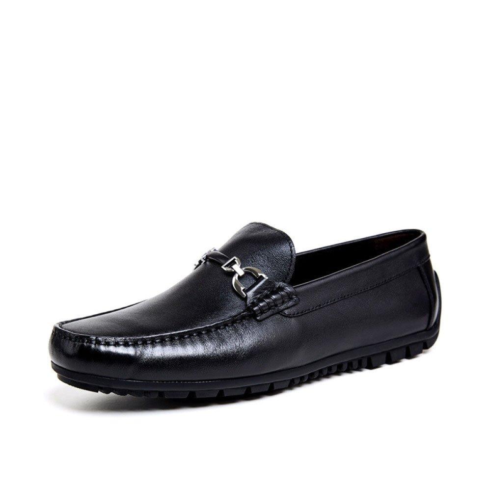 Zapatos Casuales De La Boda del Negocio De La Moda De Los Zapatos De Cuero De Los Hombres De 40 EU Black