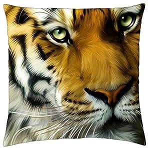 Tiger - Throw Pillow Cover Case (18