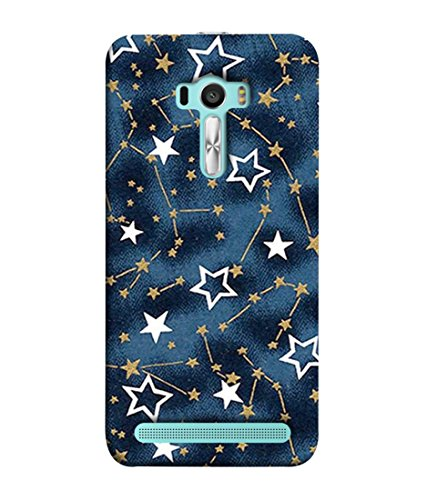 PrintVisa Designer Premium Back Cover for Asus Zenfone Selfie ZD551KL  Stars Big Small Blinking Chain