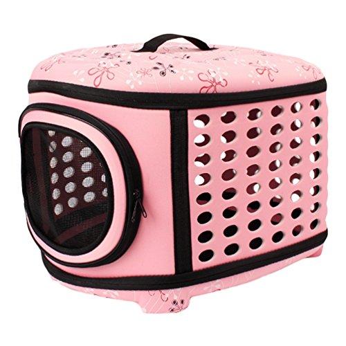 JEELINBORE Stabile Transportbox Sportlich Kleine Transporttasche Hundetasche für Tiere Katze Hunde Faltbare Haustier…