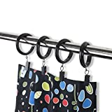 Rack & Hook Decorative Curtain Clip & Rings with Clips - Premium Quality Plastic (Set of 28, 2'')