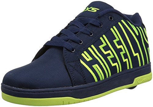 Heelys Split Sneaker, Navy/Bright Yellow, 3 Medium US Big Kid ()
