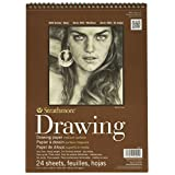 Strathmore 400400 80-Pound 24-Sheet Medium Surface Drawing Paper, 9 by 12-Inch