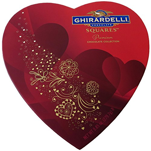Large Heart Box - Ghirardelli Valentine's Chocolate Squares, Premium Chocolate Assortment, 9.85-Ounce Heart Box