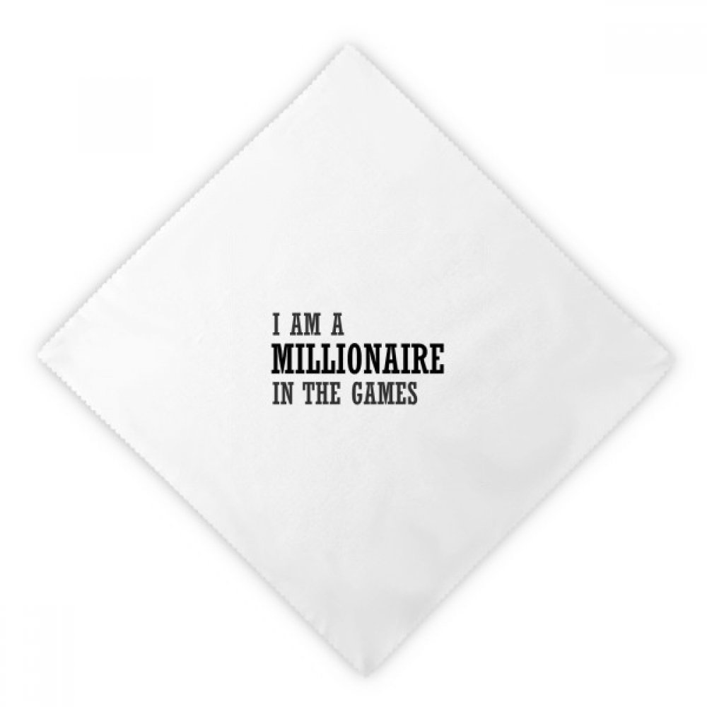 DIYthinker I Am A Millionaire In The Games Dinner Napkins Lunch White Reusable Cloth 2pcs