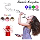 Microphone for Kids - Portable Wireless Microphone Karaoke with Bluetooth Speakers for Music Playing and Singing Anytime Anywhere - Support IPhone/Android IOS Smartphone/Tablet Compatible Sliver