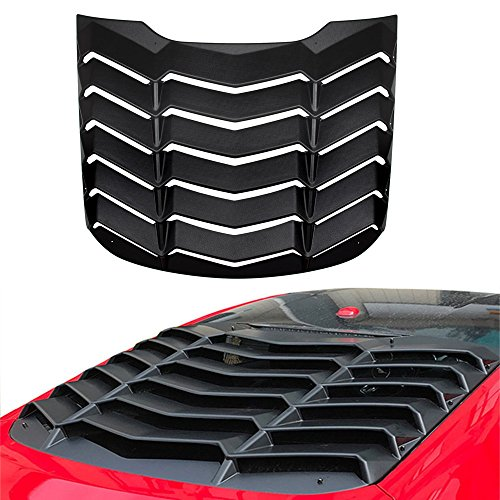 Rear Window Louvers - Opall ABS Rear Window Louvers Scoop Louvers GT Lambo Style in Matte Black for 2015 2016 2017 2018 Ford Mustang
