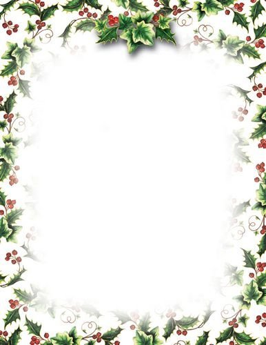 image regarding Printable Christmas Letterhead known as Geographics Holly and Ivy Xmas Letterhead, 8.5 x 11 Inches, Layout, 80-Sheet Pack (49034)