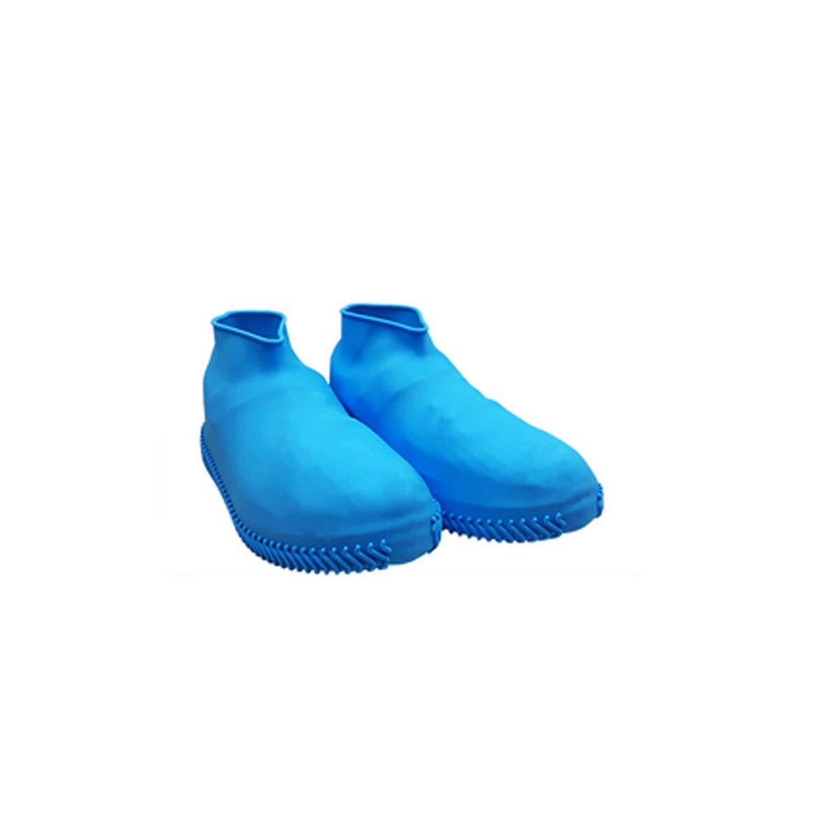WUHUIZHENJINGXIAOBU Waterproof Shoe Cover, rain-Proof Water-Like Rubber wear-Resistant Shoe Bag, Free to Choose from a Variety of Colors Shoe Covers That can be Worn on Rainy Days, (Color : Blue-M)