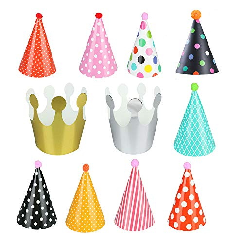 Euone Home DIY, 11Pcs Kids Party Celebration Hats Cute Birthday Festive Party Decoration