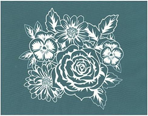 Amazon Com Diy Silk Screen Printing Stencil Ready To Use Flower