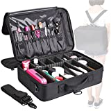 Cheap MVPOWER Makeup Train Case 3 Layer Makeup Organizer Bag with Shoulder Strap Adjustable Dividers for Cosmetics Makeup Brushes Toiletry Jewelry