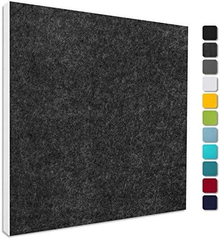Basotect ® G+ Schallabsorber - Quadrat 55x55 cm Akustik Element Schalldämmung, Farbe: ANTHRAZIT