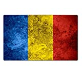 Luxlady Large TableMat IMAGE ID 31117084 flag of Romania or Romanian banner on vintage metal texture