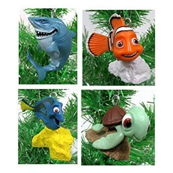 finding dory finding nemo christmas ornament set 2 to 3 plastic shatterproof ornaments - Finding Nemo Christmas Decorations