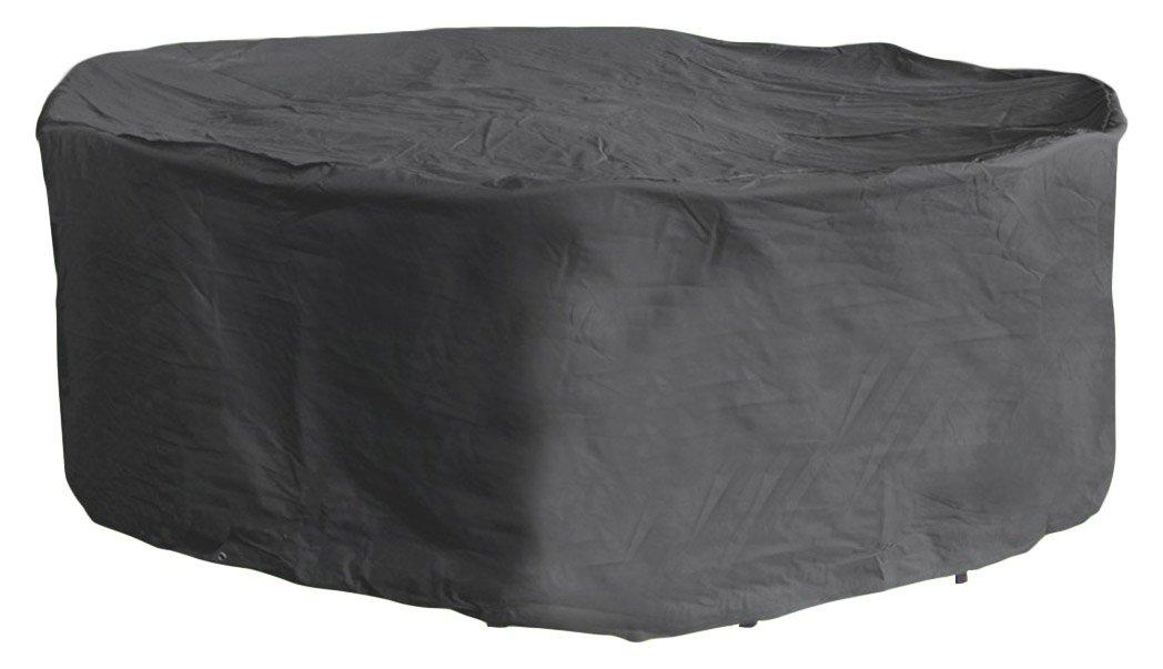 Fachhandel Plus Schutzhülle Schutzhülle Schutzhülle rund Komfort Schutzabdeckung für Sitzgruppe, Anthrazit, 196 x 95 cm fd19f6