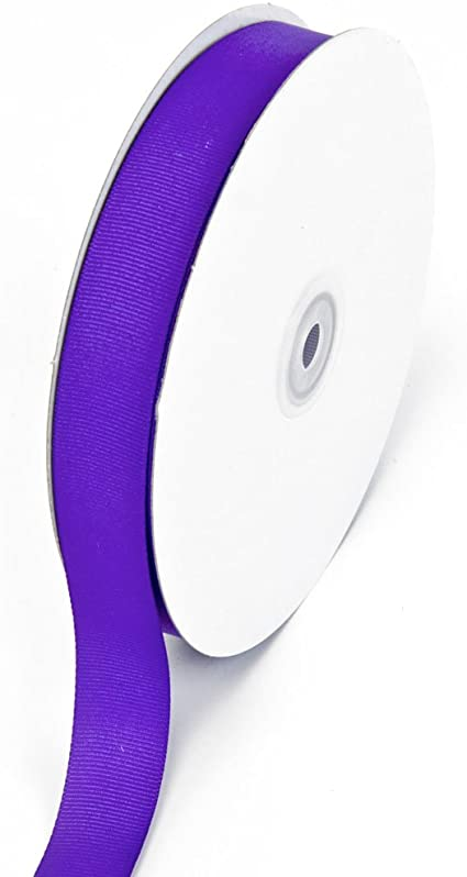 Purple 5//8-Inch Creative Ideas 50-Yard Solid Grosgrain Ribbon