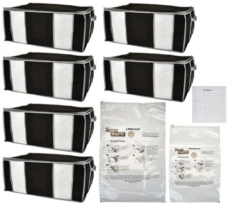 SuperPack 6 Jumbo Totes w/Compression Bags Plus 2 Bag Bonus - Air Jumbo Tote