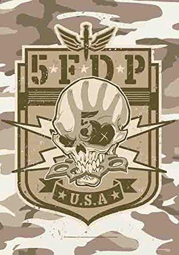 Five Finger Death Punch Camo Textile Poster Flag