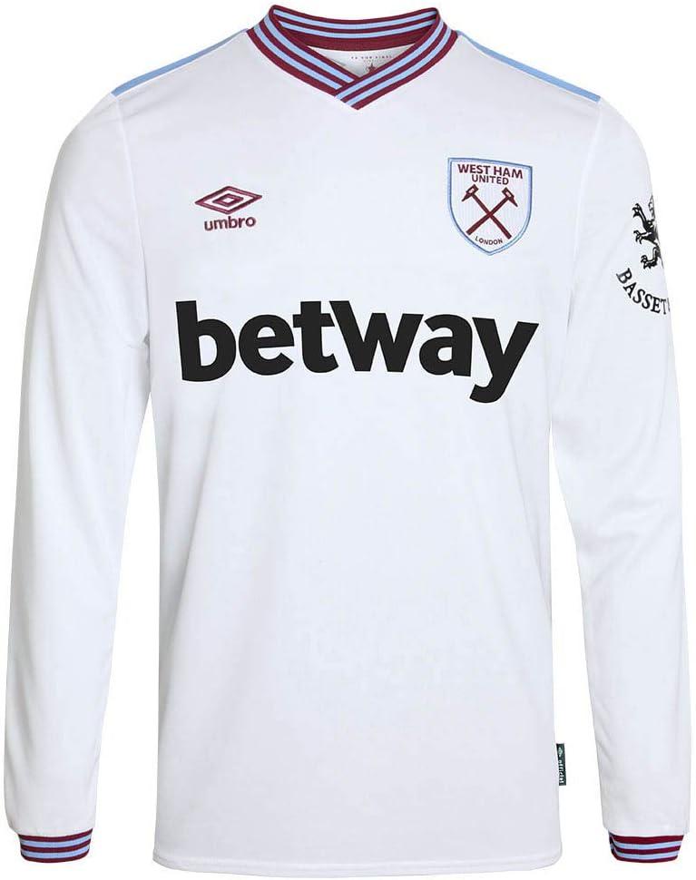 Umbro 2019-2020 West Ham - Camiseta de fútbol de manga larga ...